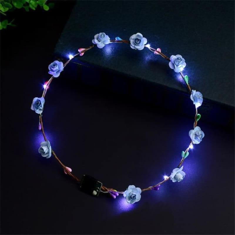 Led Anadem Glowing In The Dark - Blue - Custom Made | Free Shipping