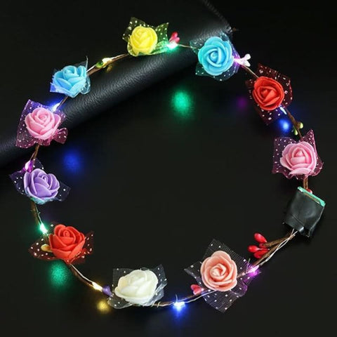 Led Anadem Glowing In The Dark - Bubble Flower Color - Custom Made | Free Shipping