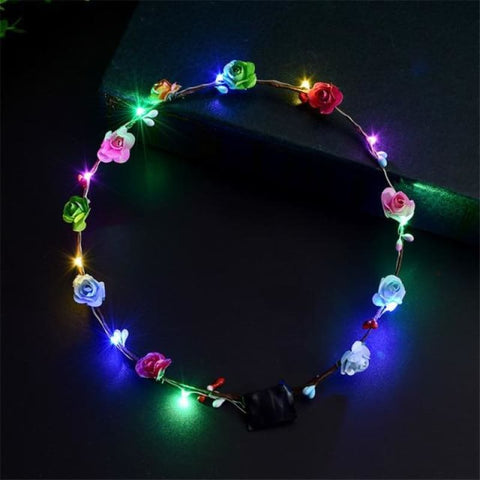 Led Anadem Glowing In The Dark - Colorful - Custom Made | Free Shipping