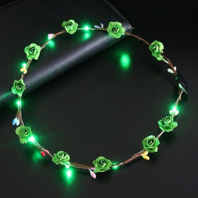 Led Anadem Glowing In The Dark - Green - Custom Made | Free Shipping