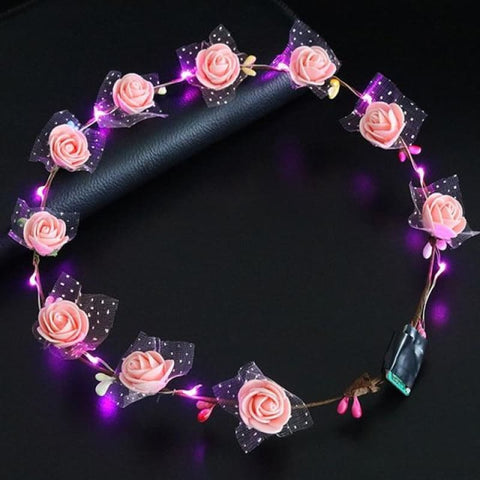 Image of Led Anadem Glowing In The Dark - Light Pink - Custom Made | Free Shipping
