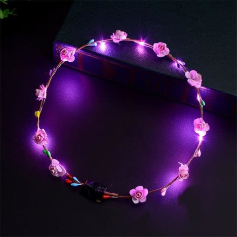 Led Anadem Glowing In The Dark - Pink - Custom Made | Free Shipping
