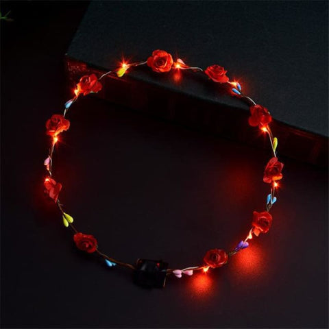 Led Anadem Glowing In The Dark - Red - Custom Made | Free Shipping