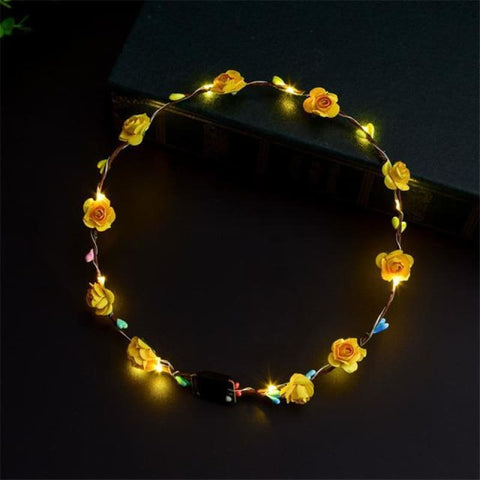 Led Anadem Glowing In The Dark - Yellow - Custom Made | Free Shipping