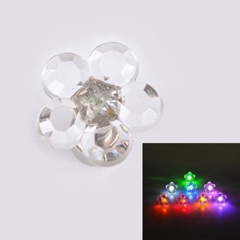 Led Light Up Glowing Crystal Stainless Steel Stud Earring - 1Pair Floral - Custom Made | Free Shipping