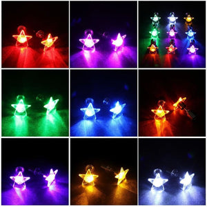 LED Stud Earrings Star Glowing