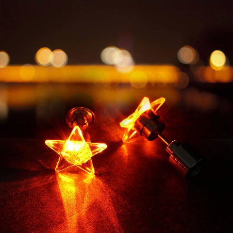 Image of Led Stud Earrings Star Glowing - Custom Made | Free Shipping
