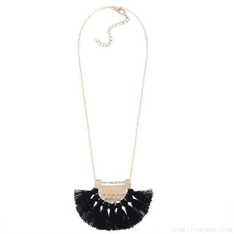 Long Tassel Chain Necklace Statement - Black - Custom Made | Free Shipping