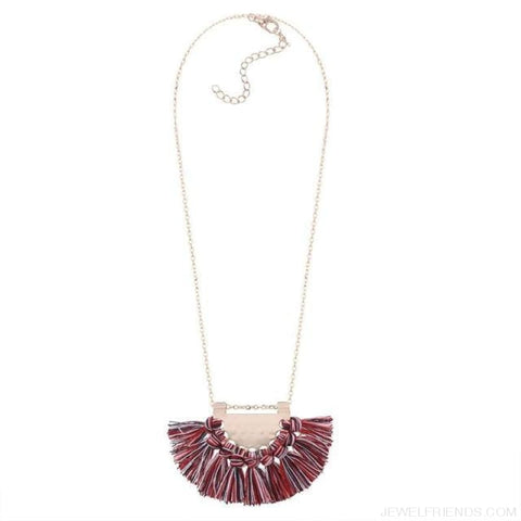 Long Tassel Chain Necklace Statement - Color - Custom Made | Free Shipping