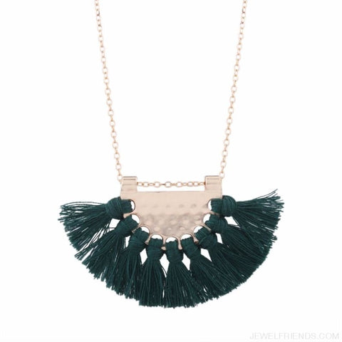 Long Tassel Chain Necklace Statement - Custom Made | Free Shipping