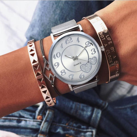 Image of Love Heart Dial Wristwatches - Custom Made | Free Shipping