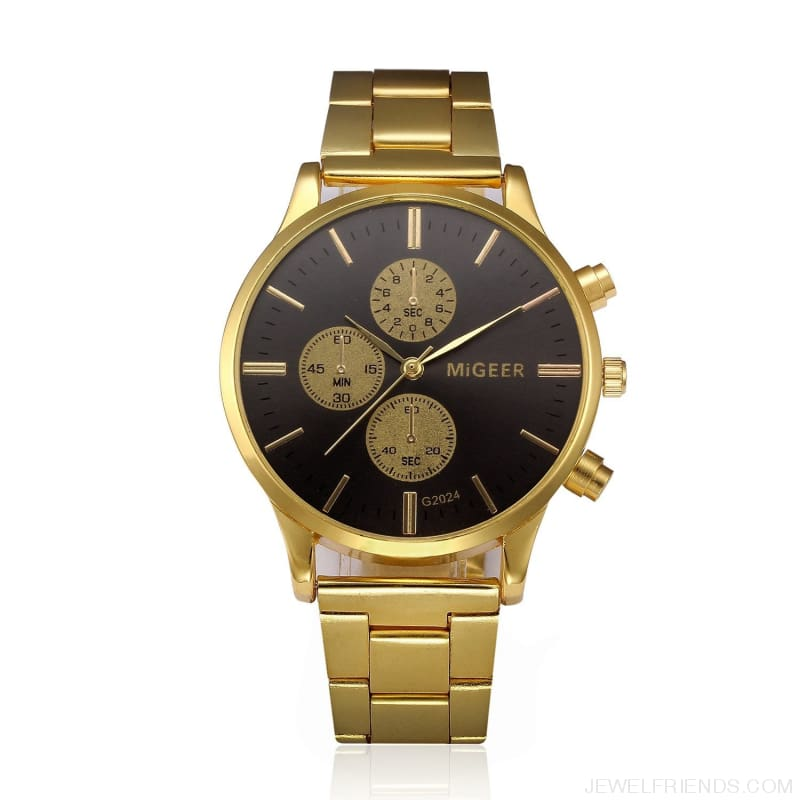 Luxury Classic Gold Wristwatch - Custom Made | Free Shipping