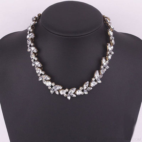 Image of Luxury Crystal Flower Statement Necklace - Custom Made | Free Shipping