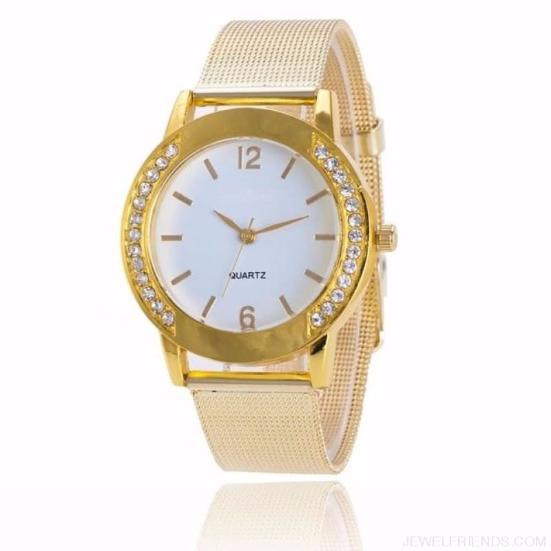 Luxury Crystal Full Steel Gold Watch - Watch - Custom Made | Free Shipping