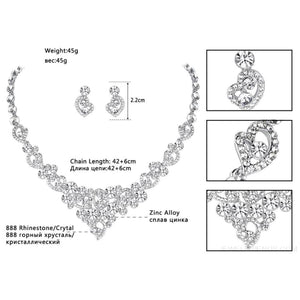 Luxury Heart Crystal Jewelry Sets