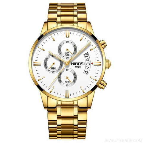 Luxury Masculino Sports Watches Waterproof - Gold White S - Custom Made | Free Shipping