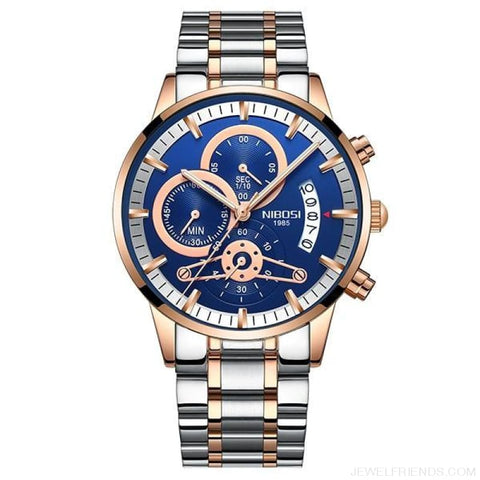 Luxury Masculino Sports Watches Waterproof - Rose Gold Blue S - Custom Made | Free Shipping