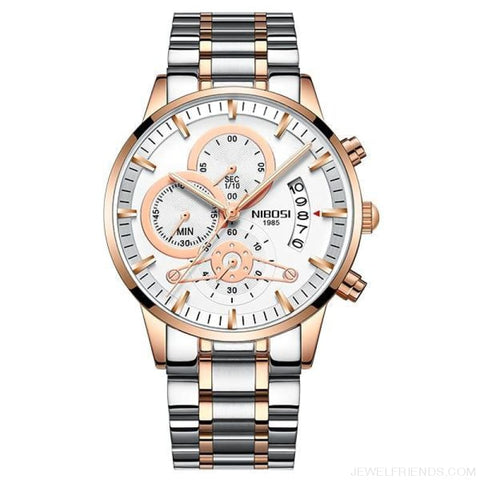 Luxury Masculino Sports Watches Waterproof - Rose Gold White S 1 - Custom Made | Free Shipping