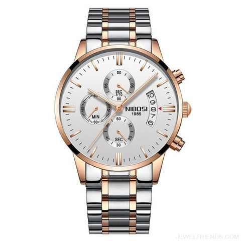 Luxury Masculino Sports Watches Waterproof - Rose Gold White S - Custom Made | Free Shipping