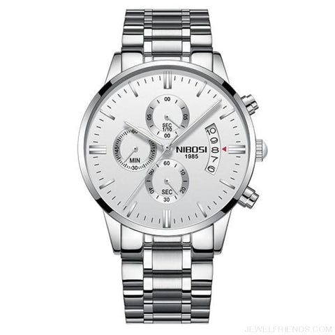 Luxury Masculino Sports Watches Waterproof - Silver White S - Custom Made | Free Shipping