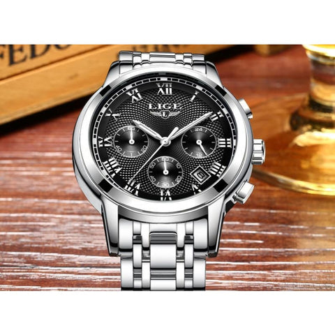 Image of Luxury Sport Quartz Clock Steel Waterproof - Custom Made | Free Shipping