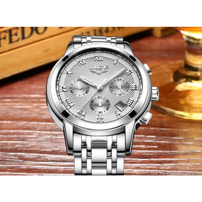 Luxury Sport Quartz Clock Steel Waterproof - Custom Made | Free Shipping