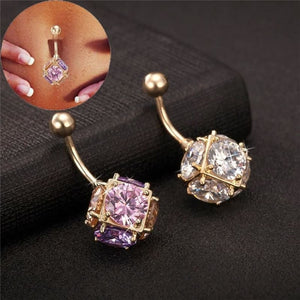 Magic Ball Cubic Zirconia Navel Piercing - Custom Made | Free Shipping