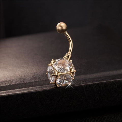 Image of Magic Ball Cubic Zirconia Navel Piercing - Custom Made | Free Shipping