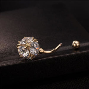 Magic Ball Cubic Zirconia Navel Piercing
