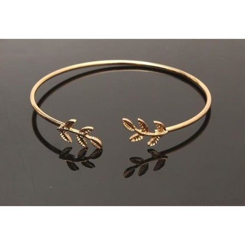 Metal Leaf Cuff Bracelets - Gold - Custom Made | Free Shipping