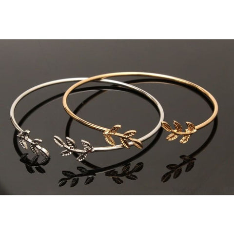 Metal Leaf Cuff Bracelets - Custom Made | Free Shipping