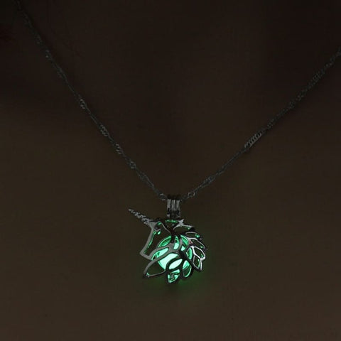 Image of Metal Unicorn Glow In The Dark Necklaces - Custom Made | Free Shipping