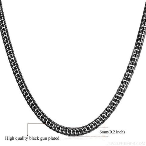 Image of Miami Cuban Link Chain Hip Hop Chains 6Mm-13Mm - 6Mm Black Color / 22 Inches / China - Custom Made | Free Shipping