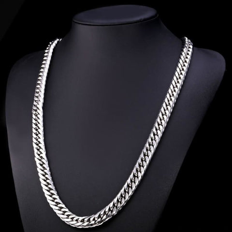 Image of Miami Cuban Link Chain Hip Hop Chains 6Mm-13Mm - Custom Made | Free Shipping