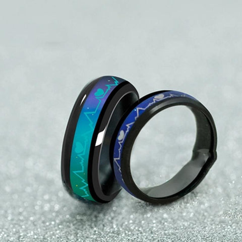 Image of Mood Temperature Feeling Rings - 6 / 6Mm Black - Custom Made | Free Shipping