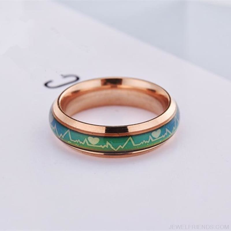 Mood Temperature Feeling Rings - 6 / 6Mm Rose Gold - Custom Made | Free Shipping