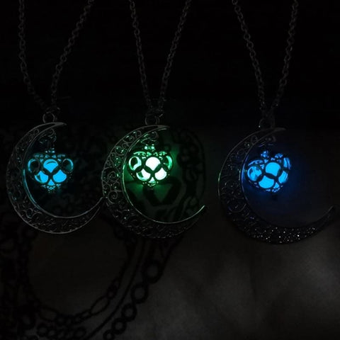 Image of Moon Glowing Necklace - Custom Made | Free Shipping