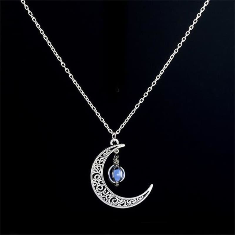 Moon Glowing Necklace - N173-2 - Custom Made | Free Shipping
