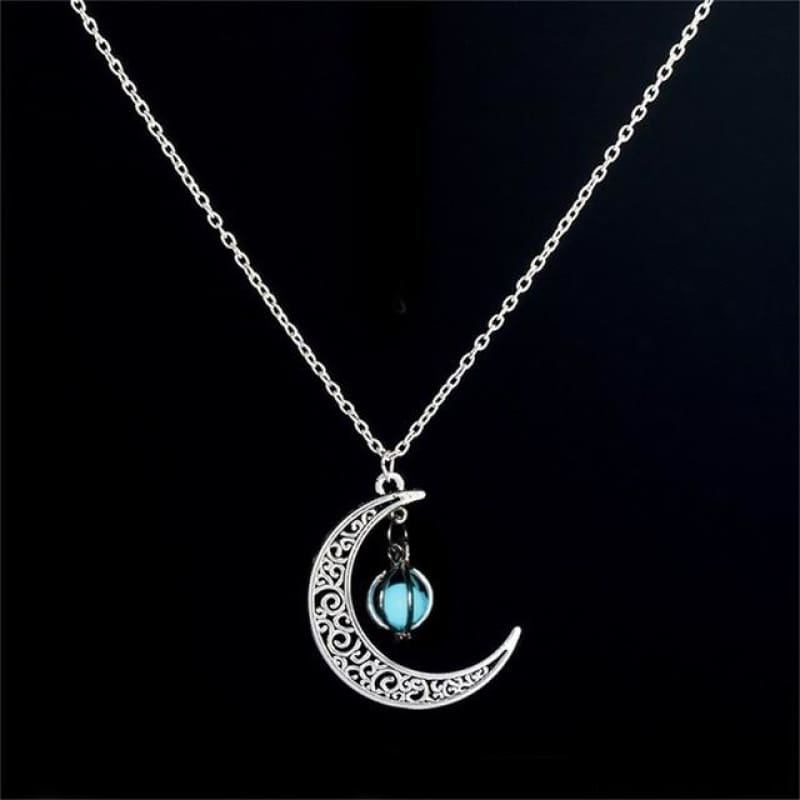 Moon Glowing Necklace - N173-4 - Custom Made | Free Shipping