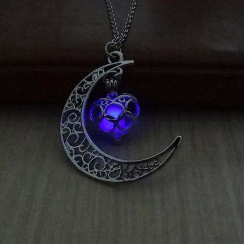 Moon Glowing Necklace - Purple - Custom Made | Free Shipping