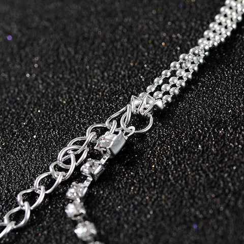 Multi-Layer Sexy Crystal Anklet Chain - Custom Made | Free Shipping