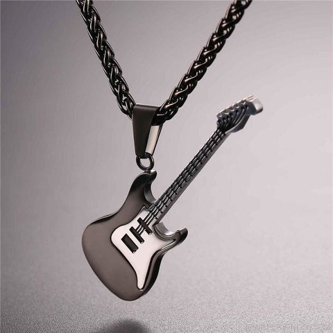 Music Lover Rock Guitar Chain Necklace - Custom Made | Free Shipping