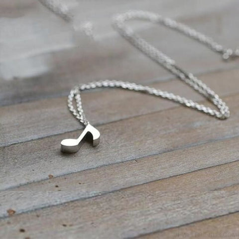 Image of Musical Note Symbol Chain Necklace - Custom Made | Free Shipping