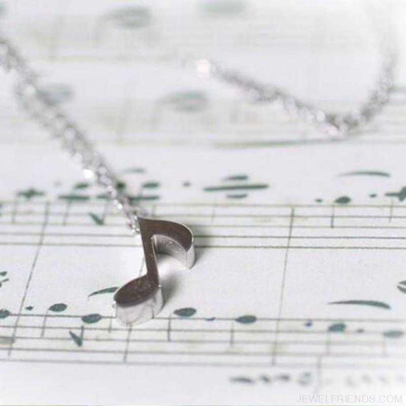 Musical Note Symbol Chain Necklace - Custom Made | Free Shipping