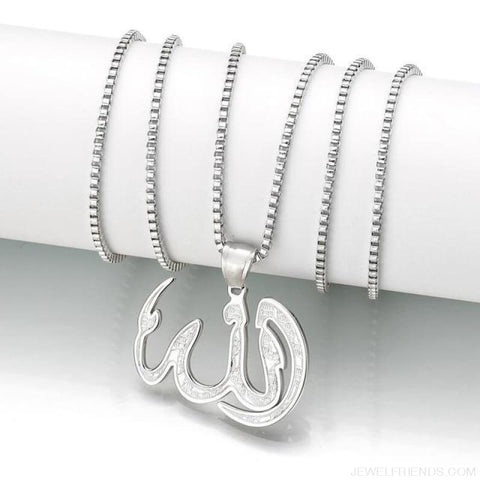 Muslim Ice Out Chain Necklace - Silver - Custom Made | Free Shipping
