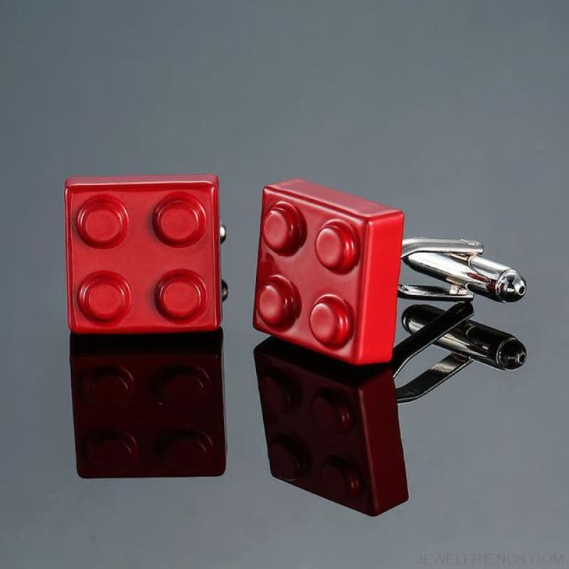 Muti-Color Bricks Design Cuff Links - 2 - Custom Made | Free Shipping