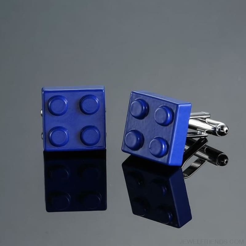 Muti-Color Bricks Design Cuff Links - 3 - Custom Made | Free Shipping