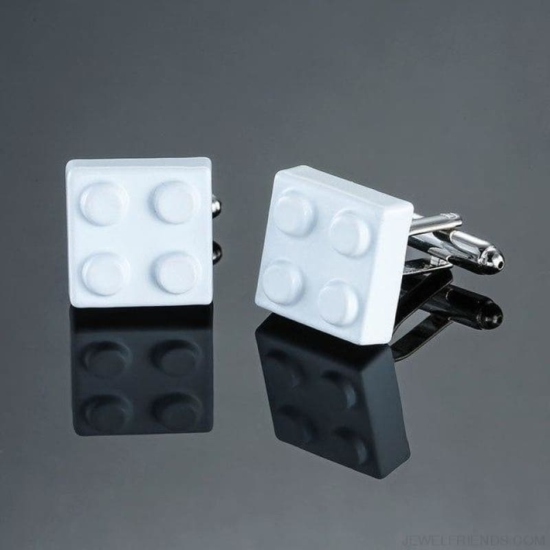 Muti-Color Bricks Design Cuff Links - 5 - Custom Made | Free Shipping