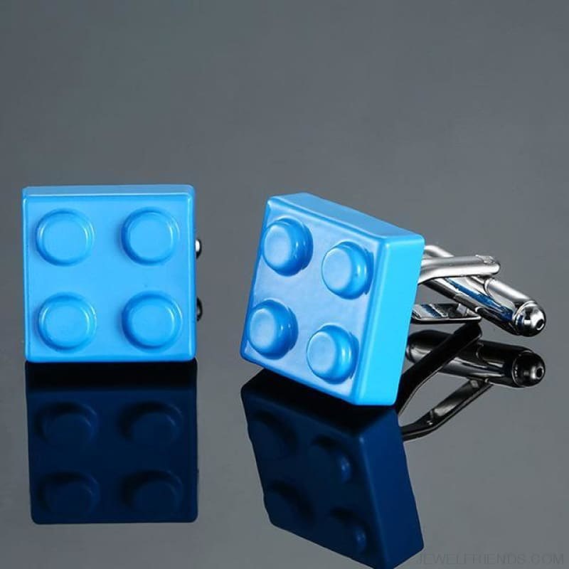 Muti-Color Bricks Design Cuff Links - 7 - Custom Made | Free Shipping