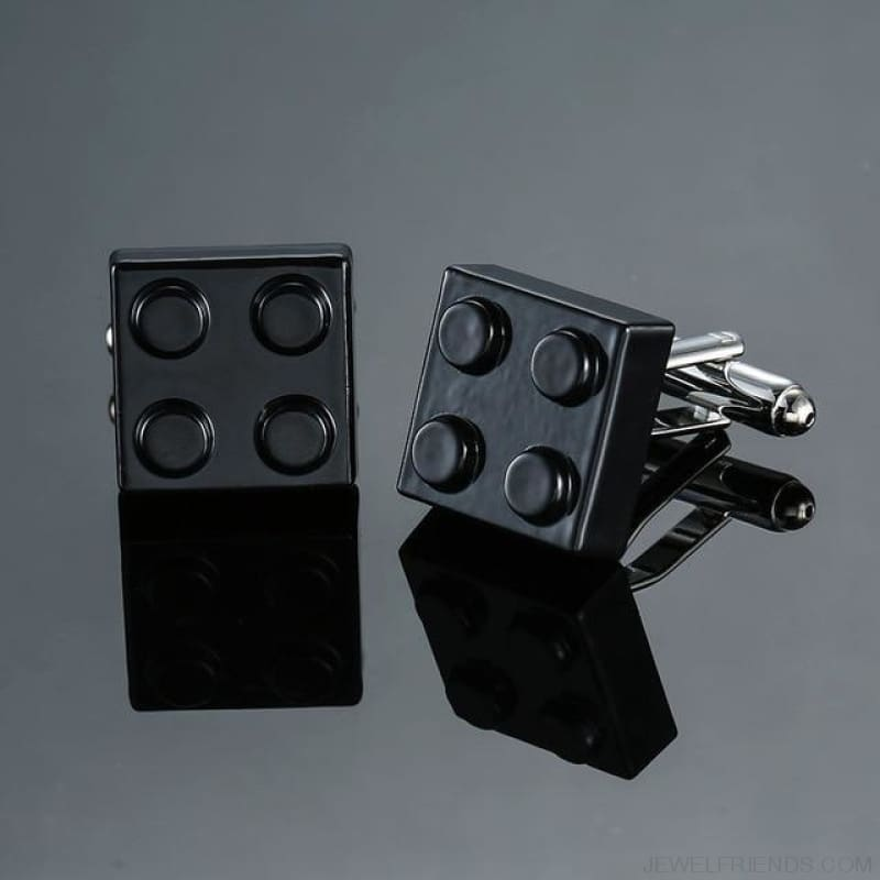 Muti-Color Bricks Design Cuff Links - 8 - Custom Made | Free Shipping